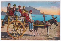 Italia Italy 1926 Carro Siciliano, Sicilia Sicily, Donkey - Romania