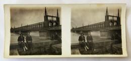 Photo Stéréoscopique Originale Strasbourg 1924 Pont Ferroviaire De Kehl Pont De L'Europe - Photos Stéréoscopiques