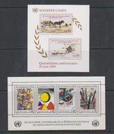 UNO Geneva 1985/1986 2 M/s ** Mnh (38907) - Blokken & Velletjes