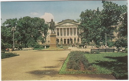Leningrad - Arts Square: Statue Of Pushkin, In The Background The Russian Museum - (USSR) - Rusland