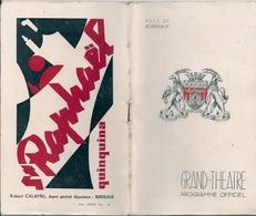 Bordeaux Programme Grand Théatre Saison 1952-53 - Bordeaux
