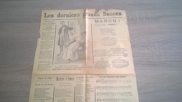 Page De Journal - Partitions Musicales Anciennes