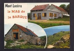 CPSM 48 - MONT LOZERE - Le MAS De La BARQUE - TB CP Multivue Dont Etablissement + PIZZA - France