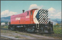 Canadian Pacific Baldwin DRS44-1000 #8004 At Coquitlam - Railcards Postcard - Trains