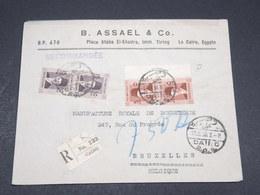 EGYPTE - Enveloppe Commerciale En Recommandé Du Caire Pour La Belgique En 1938 - L 17415 - Egypt