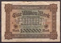 Weimarer Republik , Infla , 1 Mio. Mark , 1923 , RB-85a , VG , Einseitig Bedruckt - 1918-1933: Weimarer Republik