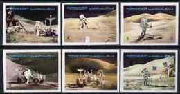 60284 (space) Ajman 1972 Apollo 15 Imperf Set Of 6 Unmounted Mint, Mi 1267-72 - Space