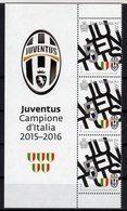 San Marino 2016 JUVENTUS Campione D'Italia Di Calcio 2015-2016 Soccer Football 3 Val. + Label MNH - Famous Clubs
