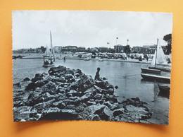 Cartolina Viserbella - Scogliera E Spiaggia - 1955 Ca. - Rimini