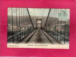 78 Yvelines, Bonnières, Pont De La Roche-Guyon, Animée, 1905, (Gesvret, Breger) - Bonnieres Sur Seine