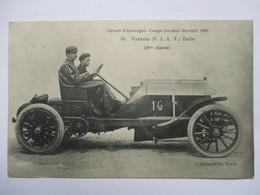 COUPE GORDON BENETT 1905 -    N° 16  NAZZARI     (   F.I.A.T.  )           TRES  ANIME     TTB - France