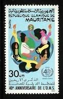 MAURITANIA 1988 MEDICAL WHO ANNIVERSARY SET MNH - Mauritania (1960-...)