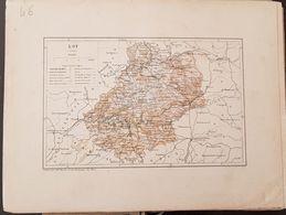 CARTE GEOGRAPHIQUE ANCIENNE: FRANCE: LOT (46) (Garantie Authentique. Epoque 19 ème Siècle) - Carte Geographique