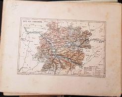 CARTE GEOGRAPHIQUE ANCIENNE: FRANCE: LOT (47) (Garantie Authentique. Epoque 19 ème Siècle) - Carte Geographique