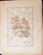 CARTE GEOGRAPHIQUE ANCIENNE: FRANCE: LOZERE (48) (Garantie Authentique. Epoque 19 ème Siècle) - Carte Geographique