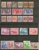 MAURITIUS QUEEN VICTORIA - QEII ALL DIFFERENT FINE USED SELECTION ON 6 STOCKCARDS Stc Approximately £44 - Mauritius (1968-...)