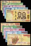 Burundi Set 500 1000 2000 5000 10000 Francs / Amafaranga 2015 Pick 50-54 New UNC - Burundi