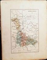 CARTE GEOGRAPHIQUE ANCIENNE: FRANCE: MEURTHE ET MOSELLE (54) (Garantie Authentique. Epoque 19 ème Siècle) - Carte Geographique