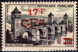 REUNION CFA Poste 339 ** MNH CAHORS Le Pont Valentré Bridge Brücke Puente Ponto (CV 7,50 €) - Reunion Island (1852-1975)