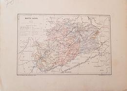 CARTE GEOGRAPHIQUE ANCIENNE: FRANCE:HAUTE SAONE (70) (Garantie Authentique. Epoque 19 ème Siècle) - Carte Geographique
