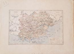 CARTE GEOGRAPHIQUE ANCIENNE: FRANCE: VAR (83) (Garantie Authentique. Epoque 19 ème Siècle) - Carte Geographique