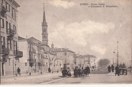 Cuneo-Corso Gesso E Campanile S.Sebastiano-Originale 100%-2 Scan-an - Cuneo
