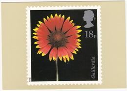 Gaillardia - Flowers  (18p Stamp) -  1987 - (U.K.) - Postzegels (afbeeldingen)