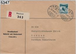 1949 Rheinfall 289/504 Charge Thalwil 23.IV.49 To Zürich - Brieven En Documenten