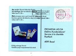 Carte Flamme Visp Boite Aux Lettres Sur Vignette Distributeur Publicité Dent - Marcophilie