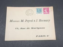 FRANCE - Enveloppe De Paris Pour Paris En 1936 , Affranchissement Plaisant - L 17453 - 1921-1960: Modern Tijdperk