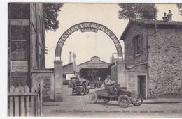 Essonne - Corbeil - Etablissements Decauville, Première Sortie D'un Châssis Automobile - Corbeil Essonnes
