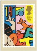 Toy Aeroplane And Train  - Games And Toys  (19p Stamp) -  1989 - (U.K.) - Postzegels (afbeeldingen)