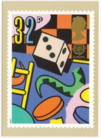 Board Games  - Games And Toys  (32p Stamp) -  1989 - (U.K.) - Postzegels (afbeeldingen)