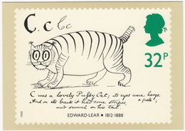 'C Was A Lovely Pussycat'' - Edward Lear - Verse For Children  (32p Stamp) -  1988 - (U.K.) - Postzegels (afbeeldingen)