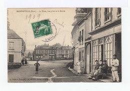 Mainneville. Eure. La Place Vue Prise De La Mairie. (2900) - France