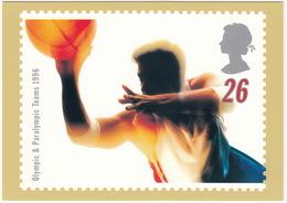 'GOAL' - Swifter, Higher, Stronger - Olympic & Paralympic Teams 1996  (26p Stamp) -  1996 - (U.K.) - Postzegels (afbeeldingen)