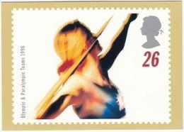 'THROW' - Swifter, Higher, Stronger - Olympic & Paralympic Teams 1996  (26p Stamp) -  1996 - (U.K.) - Postzegels (afbeeldingen)