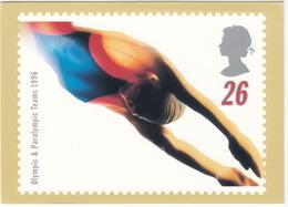 'SWIM' - Swifter, Higher, Stronger - Olympic & Paralympic Teams 1996  (26p Stamp) -  1996 - (U.K.) - Postzegels (afbeeldingen)