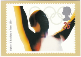 'GLORY' - Swifter, Higher, Stronger - Olympic & Paralympic Teams 1996  (26p Stamp) -  1996 - (U.K.) - Postzegels (afbeeldingen)