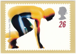 'RUN' - Swifter, Higher, Stronger - Olympic & Paralympic Teams 1996  (26p Stamp) -  1996 - (U.K.) - Postzegels (afbeeldingen)