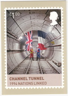 CHANNEL TUNNEL 1994 Nations Linked  (1.00 GBP Stamp) -  2012 - (U.K.) - Postzegels (afbeeldingen)