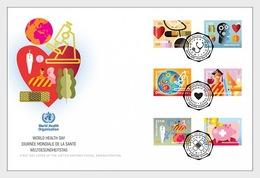 VN / United Nations (Joint-Issue) - Postfris / MNH - Complete Set FDC World Health Day 2018 - Gezamelijke Uitgaven New York/Genève/Wenen