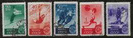Russie 1949 N°Y.T. : 1396 à 1400 Obl. - 1923-1991 UdSSR