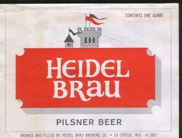 Heidel Brau Pilsner Beer,  La Crosse, Wisconsin (U.S.A.), Beer Label From 60`s. - Bier