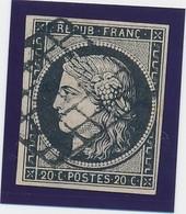20 C Noir S Blanc N° 3 TB. - 1849-1850 Cérès