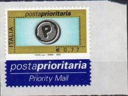 PIA -  ITALIA  - 2003-04 :  Francobollo  Prioritario Con Scritta  I.P.Z.S. S.p.A. - ROMA  2003  -  (SAS  2673B) - 6. 1946-.. Republik