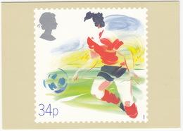 'Soccer' - Sport  (34p Stamp) -  1988 - (U.K.) - Postzegels (afbeeldingen)