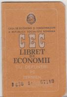 Romania RSR Old CEC Bank Savings Book - Assegni & Assegni Di Viaggio