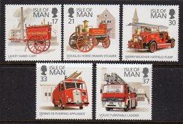 GB ISLE OF MAN IOM - 1991 FIRE ENGINES SET (5V) FINE MNH ** SG 485-489 - Isle Of Man