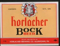 Horlacher Bock Beer, Allentown, Pensilvania (U.S.A.), Beer Label From 60`s. - Bière